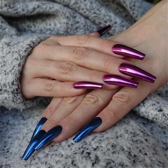 8ml Mirror Nail Polish Metallic Lacquer Silver Nail Effect Metal Gold Nail Gel Polish Base Top Coat Nails Art Manicure 15 Colors 6