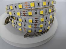 5m 16.4ft dc12v 14.4w 10mm fpbc 300leds duplo branco 2 em 1 chip 5050 smd conduziu a luz de tira cw + temperatura ww fita ajustável