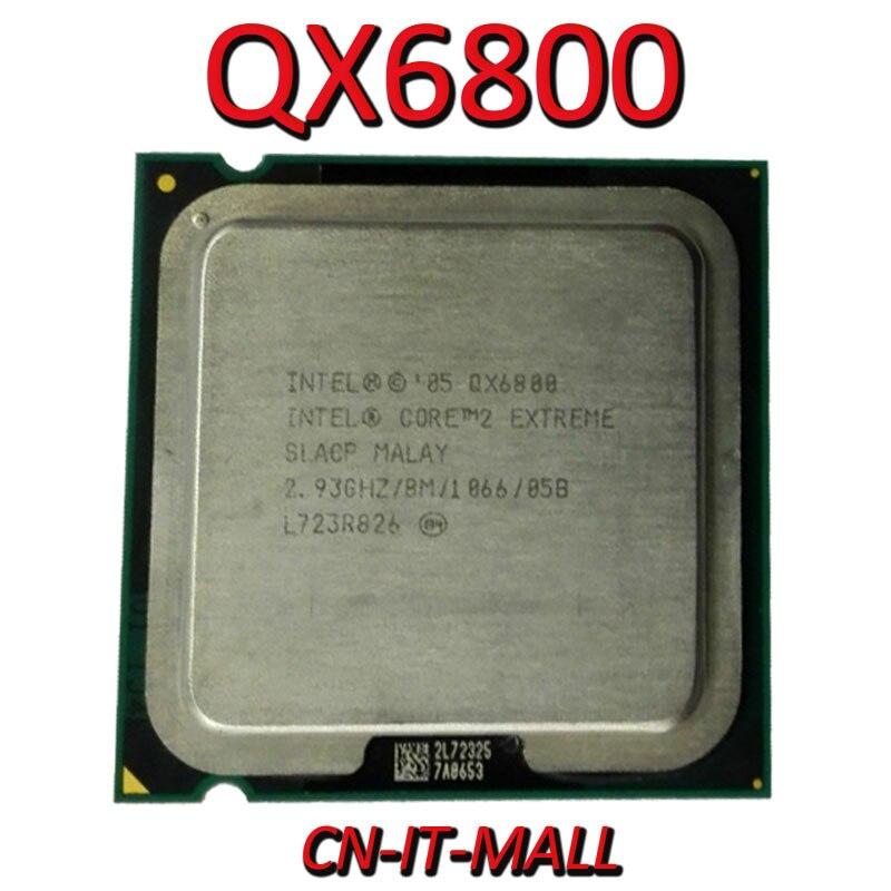 Intel Core QX6800 CPU 2.93G 8M 4 Core 4 Thread LGA775 Processor