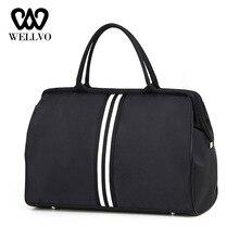Women Overnight Weekend Traveling Bag Ladies Stripe Handbag