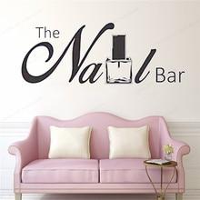 The Nail Bar wall sticker nail polish decor salon decal Manicure window removable JH152
