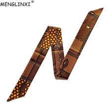 Skinny Silk Scarf 2020 New Design Luxury Brand Bag Scarf For