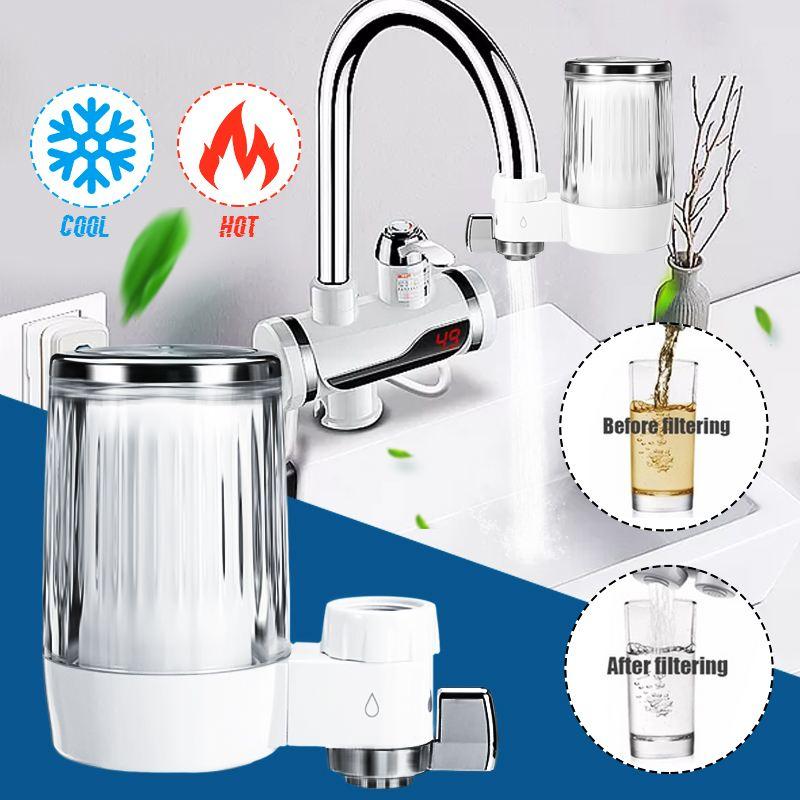 Ev Aletleri'ten Su Filtreleri'de Musluk suyu arıtıcısı mutfak musluk yıkanabilir seramik Percolator Mini su filtresi Filtro pas bakteri temizleme yedek filtre title=