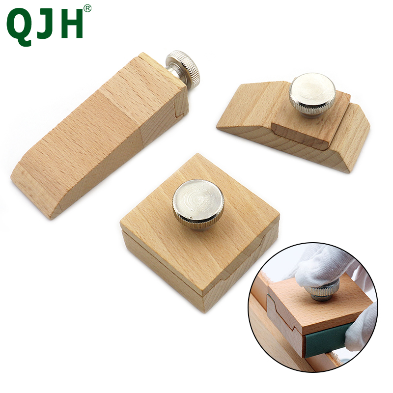 DIY Handmade Leather Sanding Block Sanding Block Abrasive Tools Vegetable Tanned Leather Edge Banding Grinding Edge Treatment