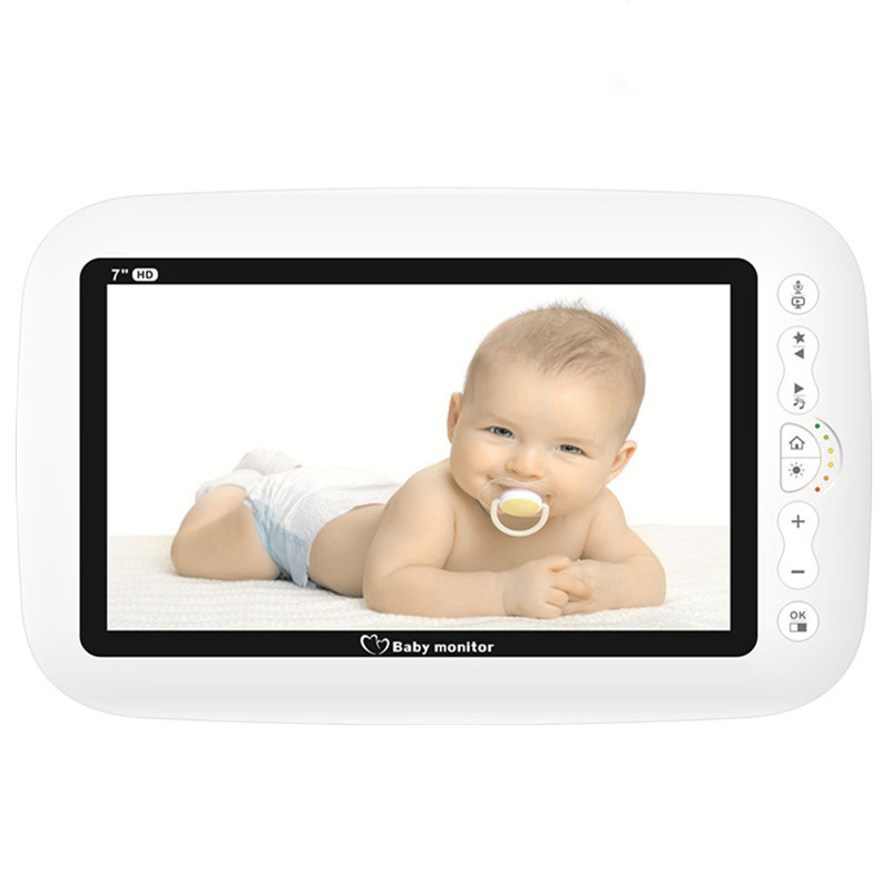 "7 Inch HD Screen Wireless Baby Video Monitor Night Vision Intercom Lullaby Babysitter ""Sold Individually"""
