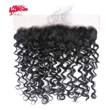 Water Wave 13X4 Pre Plucked Lace Frontal Closure 10-20Inches Brazilian Virgin Human Hair Natural Hairline With Baby Hair