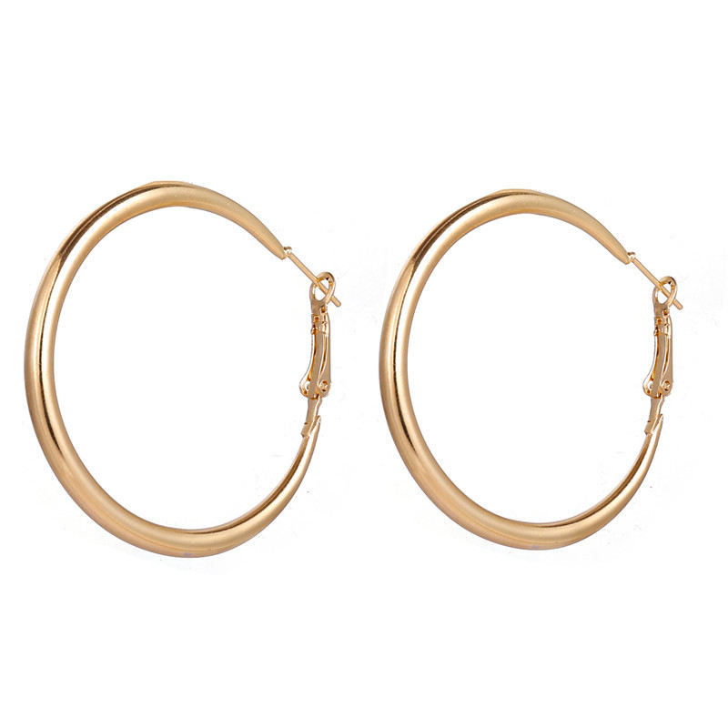 H6a22626f537f4d91981d0006cacb30feI - Hot Sale Gold Drop Earrings Jewelry Earrings For Women C Shaped Round Geometric Earring Female Fashion Jewelry Gifts