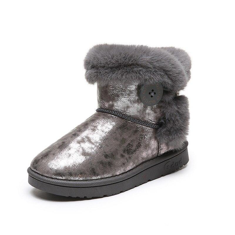 Girls Boys Warm Winter Flat Shoes Bailey Button Snow Boots Toddler//Little Kid