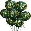 Камуфляж тема вечерние Армейский зеленый украшения шар баннеры душа ребенка Дети День рождения вечерние Supplie