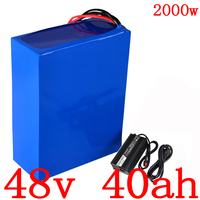 48V 40ah Elektrische Fiets Batterij 2000W 48V 40AH Lithium Scooter Accu 48V Lithium Ion Batterij met 50A Bms + 54.6V 5A Charger