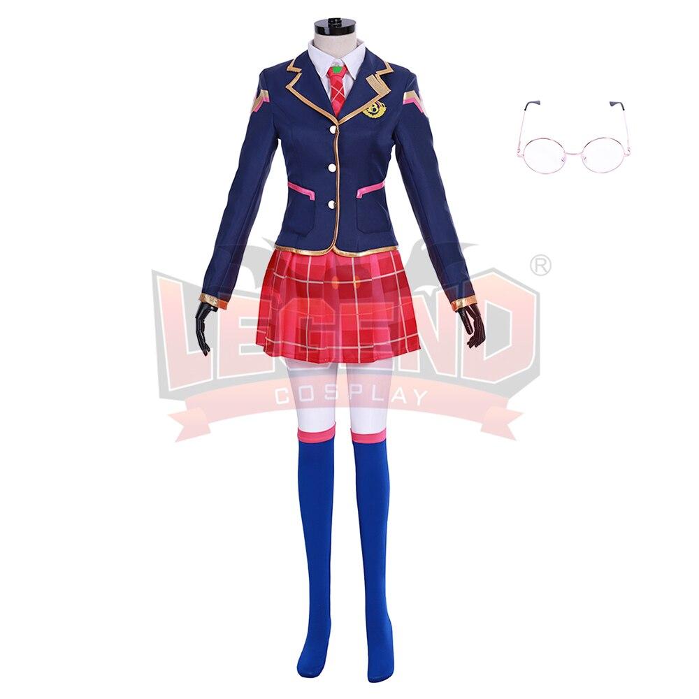 Dva Hana chanson écolière D. va costume cosplay costume adulte jupe rose uniforme costume halloween femmes costume sur mesure