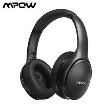 Mpow H19 IPO bezprzewodowe słuchawki ANC słuchawki z redukcją szumów HiFi Stereo Bluetooth 5.0 zestaw słuchawkowy z 30H czas odtwarzania dla Iphone 11