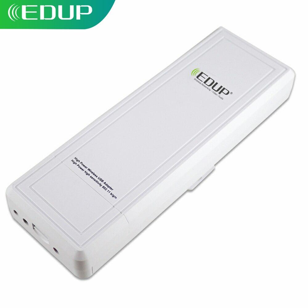 EDUP-receptor WiFi de largo alcance 802.11n, alta ganancia 16dBi 150Mbps, alta potencia, WiFi RT3070L Dongle, tarjeta de red USB 2,4 Ghz Antena 5G WiFi de doble banda 6DBi omnidireccional, Conector de clavija, Base magnética 667C