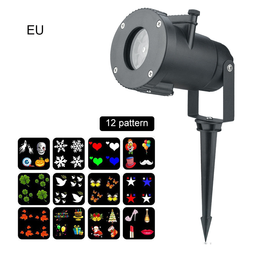 Outdoor Waterproof LED Christmas Snowing Projector Lamp Spotlight Birthday Halloween Wedding Projector Lights Oc15