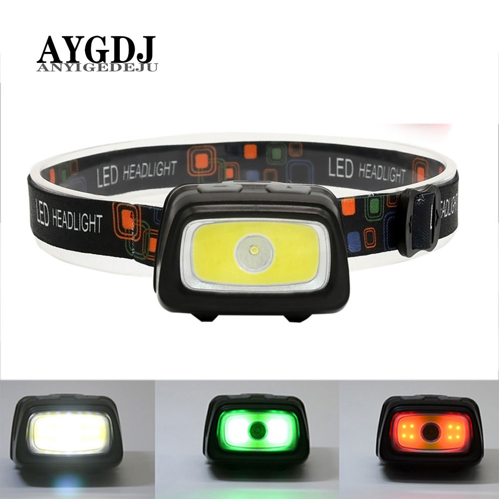 ANYIGE Mini Headlamp 1000 Lumen R5 LED Waterproof IPX4 AAA Headlight Red Green 6 Modes Strobe Head Lamp Light Flash Light Torch
