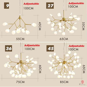 Image 4 - Modern Pendant Lamp LED Firefly Branch Tree Decorative Pendant Lighting Fixture Ceiling Lamp Hanging Light G4 Bulbs Included