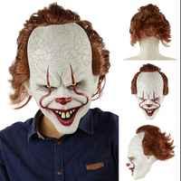 Latex Halloween Scary Clown Maske Lange Haar Geist Scary Maske Requisiten Grudge Geist Absicherung Zombie Maske Maskerade Partei Maske