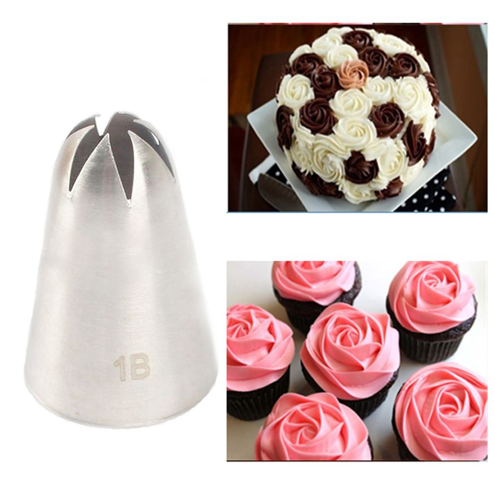 Large Size Close Star Tooth Shape Cream Nozzle Decorating Tip Icing Nozzle Cake Baking Tools For Cake Fondant Decorating Nozzle
