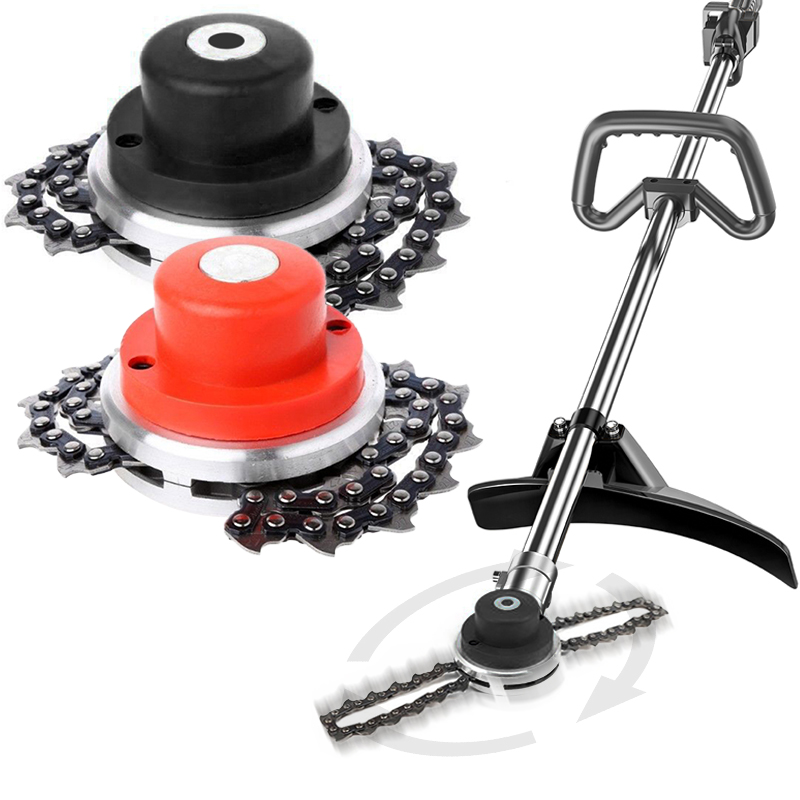 65Mn Metal Grass Trimmer Head Chain Lawn Mower Trimmer With Saw Chain Brushcutter For Garden Trimmer Grass Cutter Parts Tools