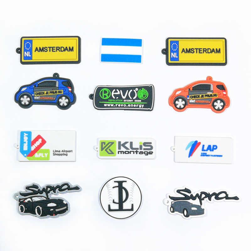 Personalizado PVC suave llavero de alta calidad llavero en su propio logotipo de diseño personalizado de dibujos animados llaveros 100% Eco amigable no tóxico