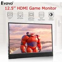 Eyoyo EM12S 12.5 2560X1440 IPS Portable Gaming monitor Thin Double Mini HDMI LCD Screen Display Monitor For Laptop PC XBox PS4