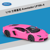 WELLY Diecast 1:18 Model Car Lamborghini Aventador LP700 Metal Racing Car High Simulator Diecast Car Alloy Toys For Kids Gifts