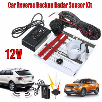 цена на 12V Electromagnetic Car Truck Parking Reversing Reverse Backup Radar Sensor Kit Car Parking Sensors For Car Reversing Radar