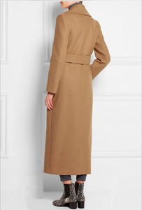 Image 3 - Solid Wide waisted Women Long Woolen Coat Double Breasted Warm Womens Jacket Elegant Casual Cashmere Coat and Jacket