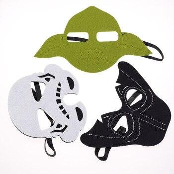 Star Wars Face Masks Darth Vader Yoda Commando Superhero Halloween Costumes Cosplay Eye Mask Kids Birthday Party DIY Xmas 3pcs
