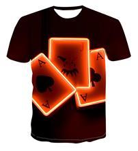 Letnie męskie 3D T-shirt z nadrukiem 3dcdc T-Shirt z nadrukiem dla dzieci koszulka Street na co dzień T-shirt z nadrukiem lato czarny T-Shirt tanie tanio Krótki O-neck Topy Tees routine Suknem Poliester Floral