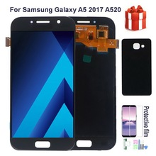Original AMOLED LCD For SAMSUNG Galaxy A5 2017 A520 A520F SM-A520FN LCD Display Touch Screen Digitizer Assembly With back cover