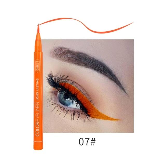 Hot 12 Color Eye Pencil Waterproof Eyeliner Liquid Make Up Matte Eye Liner Green Red Blue Brown Black Eyliner Easy To Wear 1