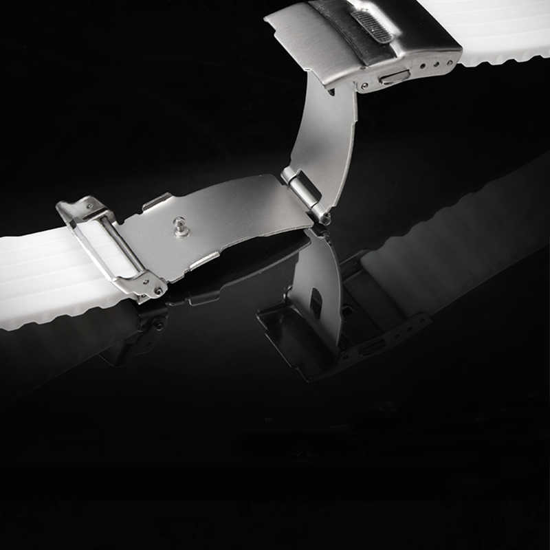 18mm 20mm רצועת שעון 22mm 24mm להקת שעון סיליקון 16mm עבור Samsung הילוך S3 huawei שעון צמיד קוראת Pulseira Amazfit ביפ