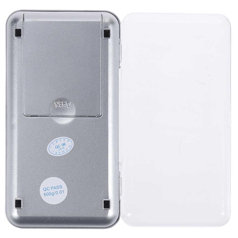 Карманные электронные весы для ювелирных изделий, 100 г/200 г/300 г/500 г X 0,01 г/0,1 г