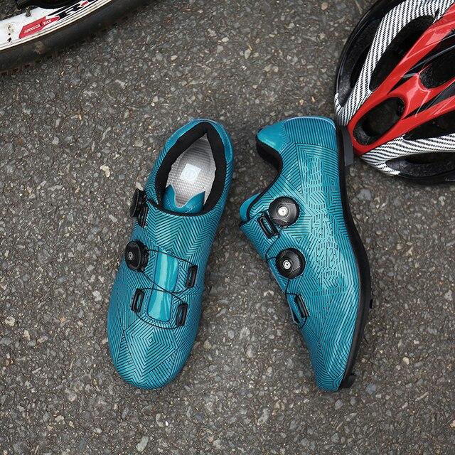 Mtb ciclismo sapatos homem competição de corrida profissional estrada mountain bike equitação sapato tênis ao ar livre auto-lock hombre 5