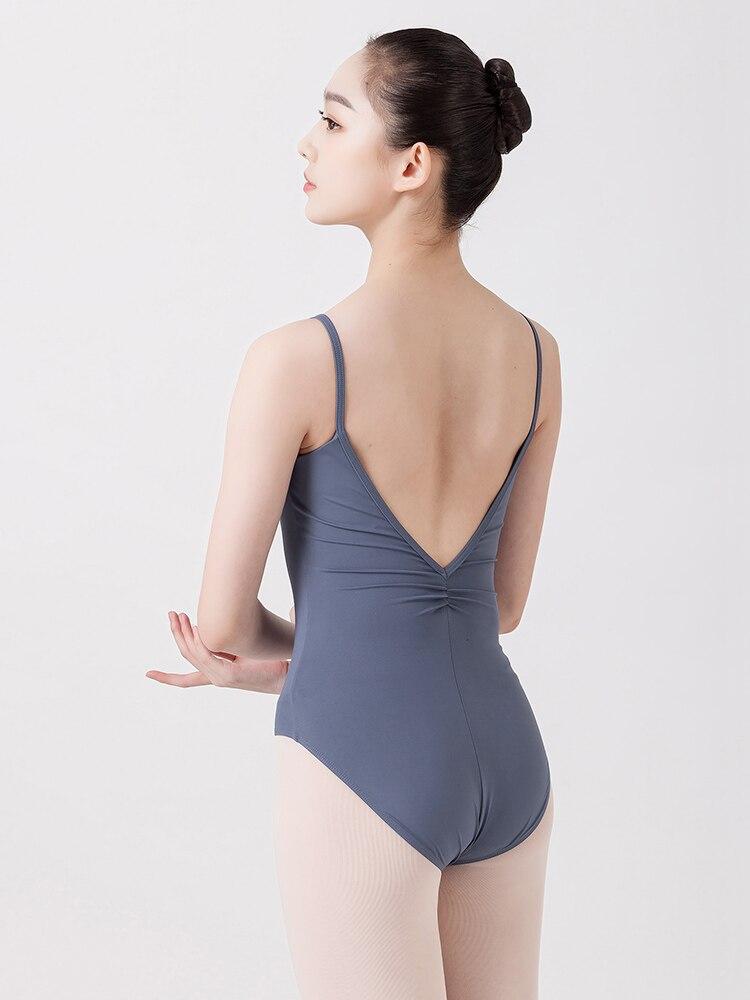 Ballerina Gymnastics Leotard Bodysuit Dance-Clothes Adult Women Backless