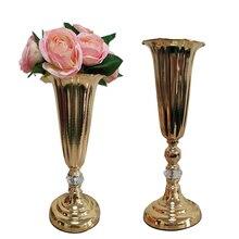 Herrajes europeos jarrón chapado mesa de estar decoración de mesa de centro florero vintage de lujo mesa de comedor arreglo de flores