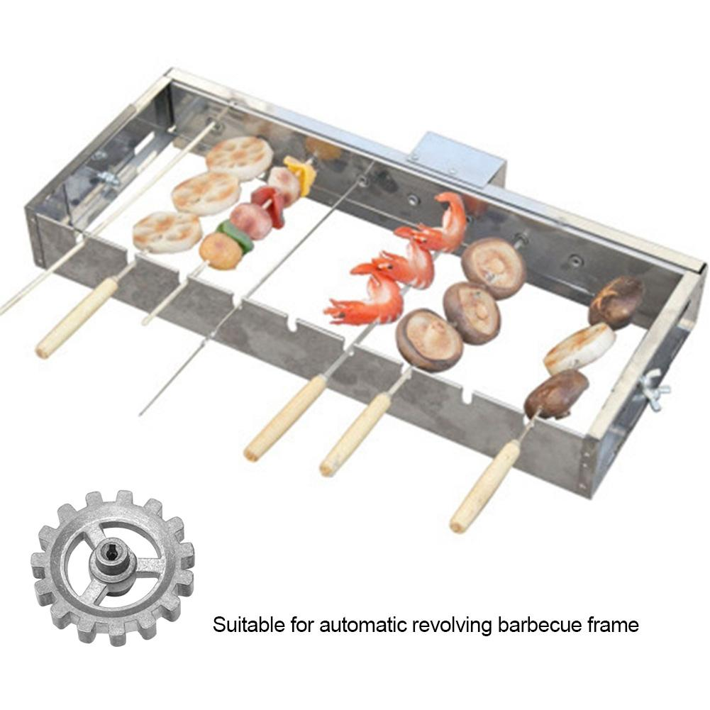 DIY Frame Gear Automatic Rotating Barbecue Accessories Electric Motor Gears For All Kinds Of Flat Baking Needles For Products in Other BBQ Tools from Home Garden