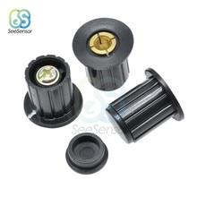 5 Pçs/lote 4mm Preto Cinza Botão Cap Botão Potenciômetro Cap Botão para WXD3-12-1W WXD3-13-2W Wirewound Potenciômetro