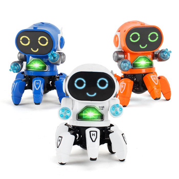 Mini RC Intelligent Robotic Toys Made With Plastic And Electronic Components Material