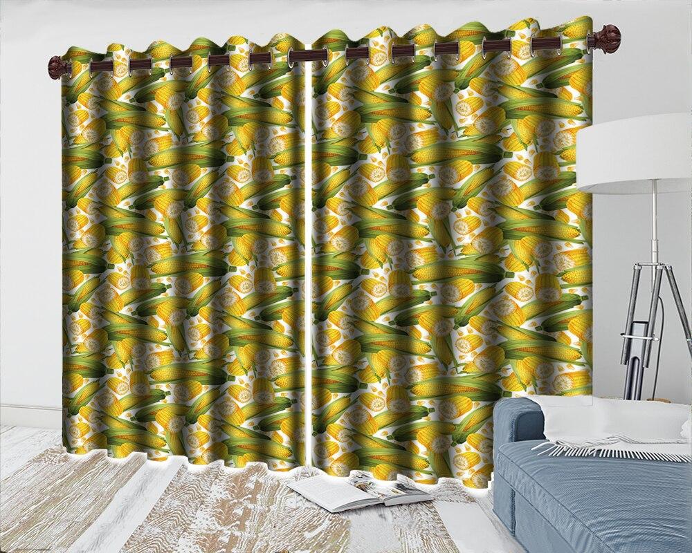 cortinas padrão golden corn impressão blackout 3d janela cortina
