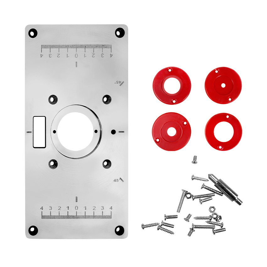 Trimming Machine Flip Plate Aluminum Router Table Plate Multifunctional Aluminum Alloy Router Table For Woodworking Benches