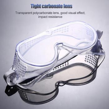 Przezroczyste okulary ochronne ochronne okulary ochronne anit-splash odporne na kurz piaskowe okulary robocze okulary ochronne tanie i dobre opinie CN (pochodzenie) Anti-Fog Pyłoszczelna