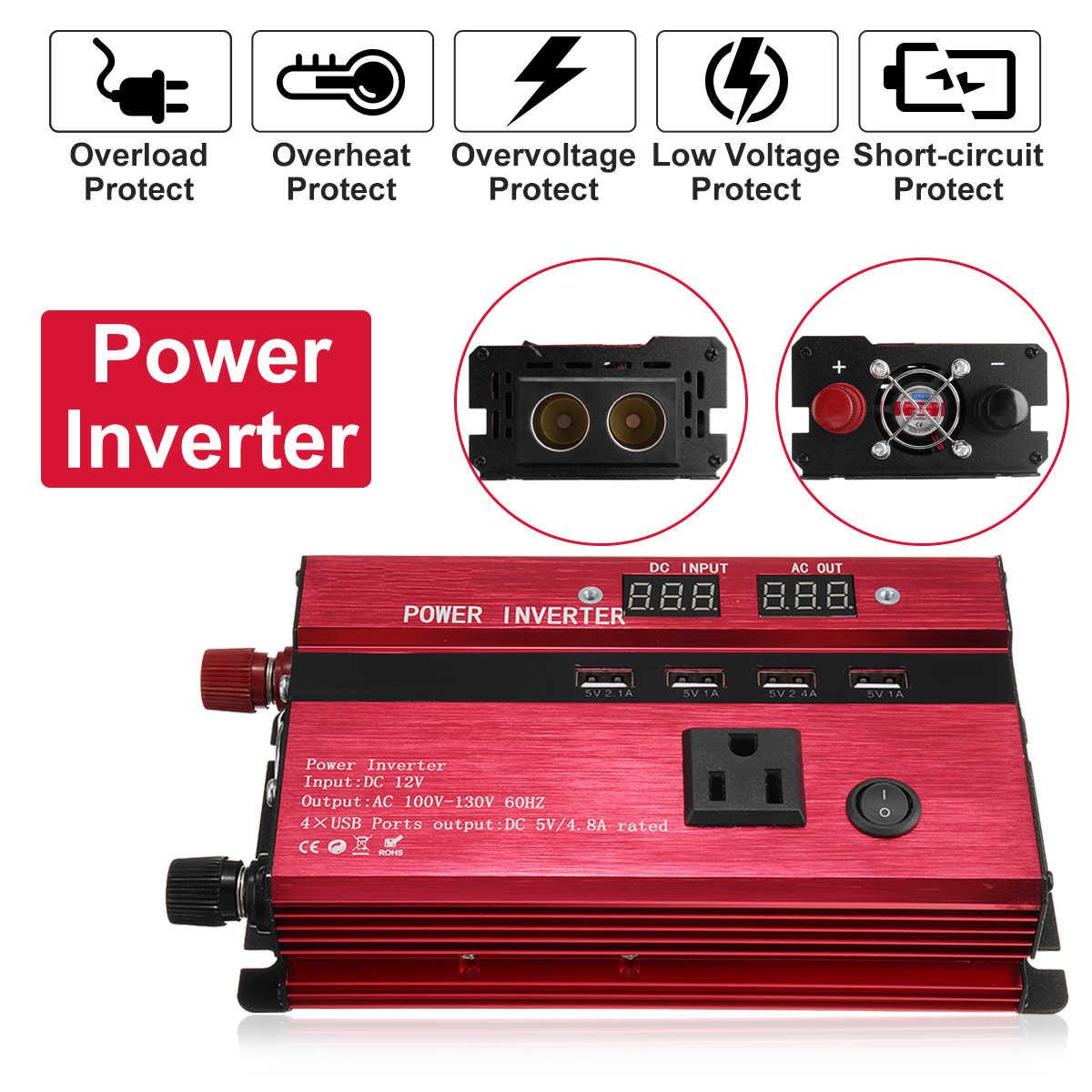 Güneş invertör DC 12/24V AC 110V/220V 3000W/4000W/5000W/8000W/10000W sinüs dalga dönüştürücü gerilim trafosu şarj cihazı