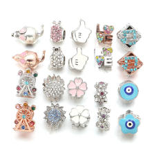 High Quality 1 Piece Alloy Beads Pendants Necklace 20 Colors Heart Love Shapes Loose Beads for Making Jewelry DIY for Necklace(China)