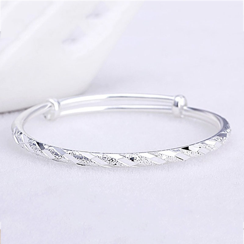XIYANIKE New Fashion 925 Sterling Silver Party Cuff Bracelet for Women Couples Creative Simple Handmade Jewelry Adjustable