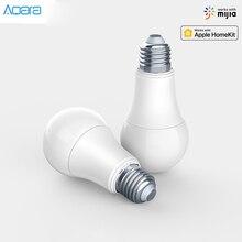 Aqara lâmpada led inteligente em atacado, 9w, e27, 2700k 6500k, 806lum, cor branca, funciona com casa kit e lâmpada inteligente do aplicativo mi home