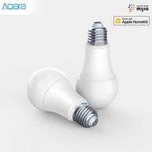 Toptan Aqara 9W E27 2700K 6500K 806lum akıllı beyaz renk LED ampul ışık ile çalışmak ev kiti ve MI ev App akıllı lamba