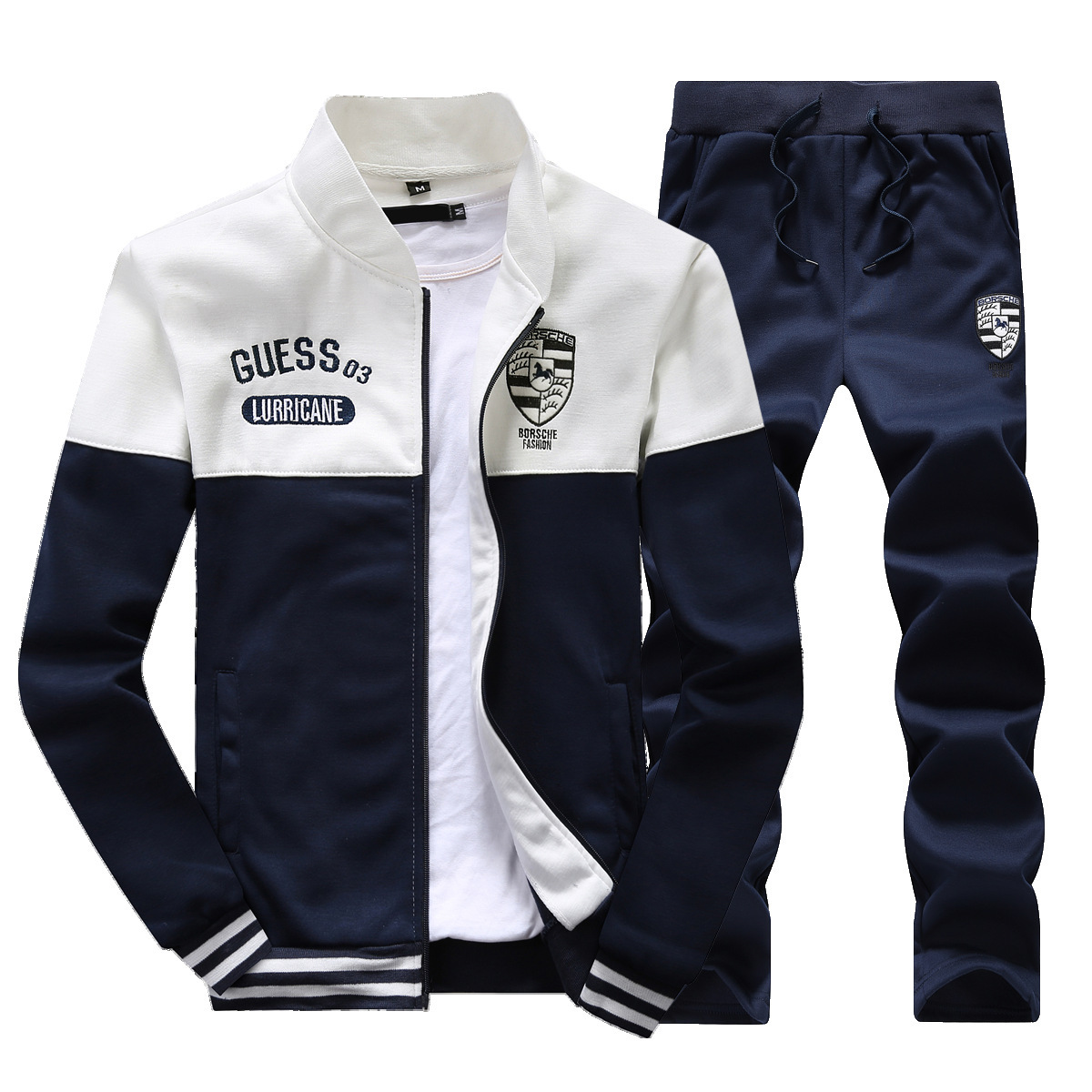 2018 New Style Spring And Autumn Men Hoodie Suit Korean-style Large Size Casual Sports Clothes Coat Trousers Fashion
