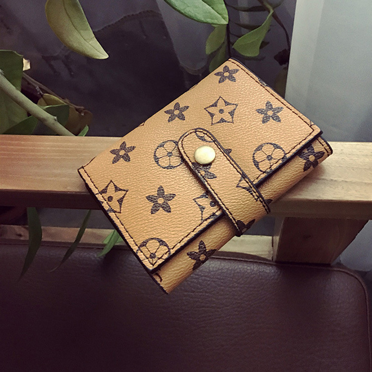2019 New Style Printed Short Wallet Two-fold Practical Women's Wallet